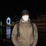 Il faut se protéger des microbes! Une bonne partie des Japonais porte ces masques en permanence.