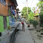 Inside the fishing village