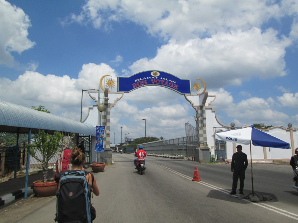 At the Thailand - Malaysia border