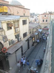Outside the bazaar