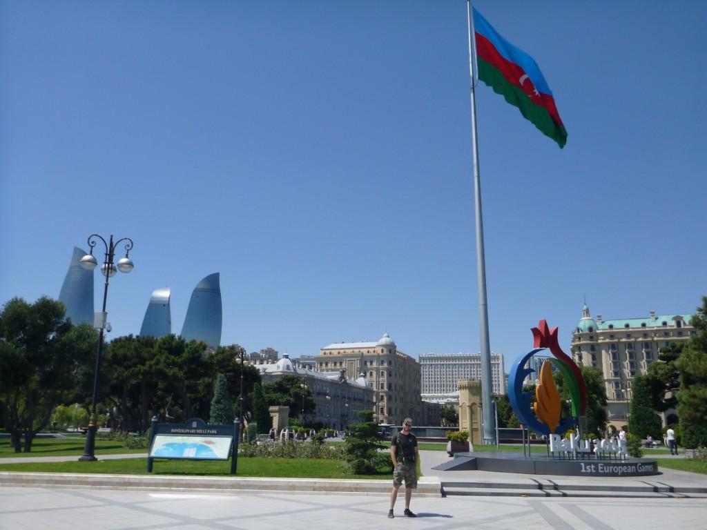 On the Bulevar in Baku