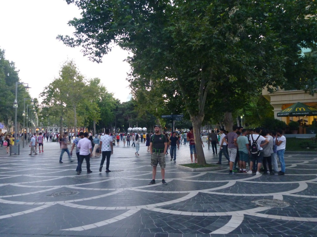 In Baku's shopping district