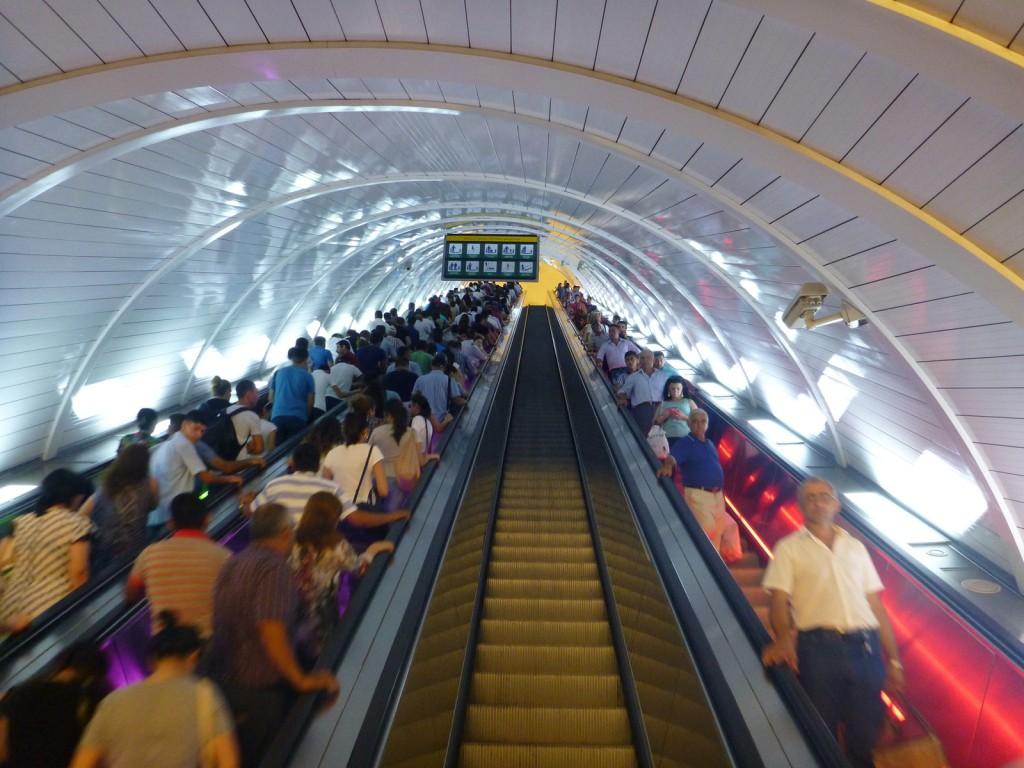 Baku's metro is deep