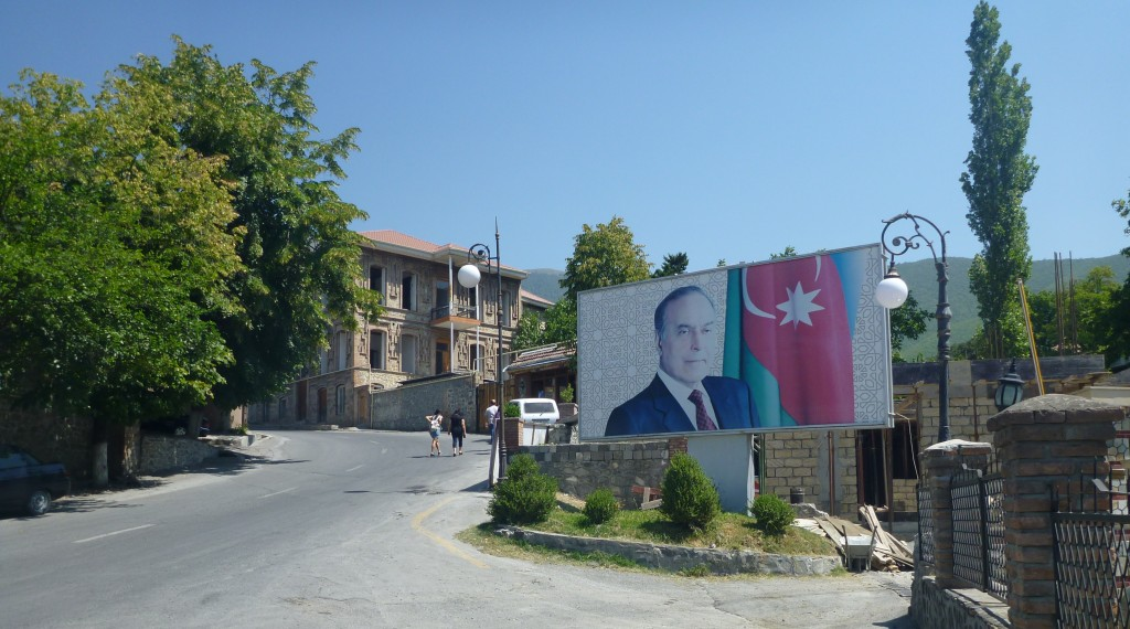 Propaganda poster of Heydar Aliev: Azerbaijan's greatest ruler