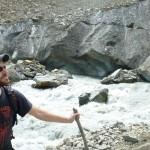 At the foot of the Chaaladi glacier