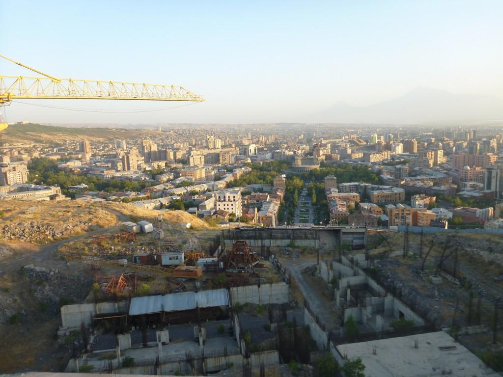 View of Yerevan from the 50th anniversary of Soviet Armenia monument