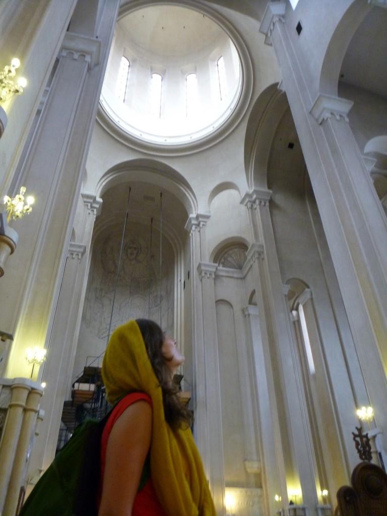 Inside Tbilisi Sameba cathedral