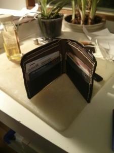 finished wallet inside
