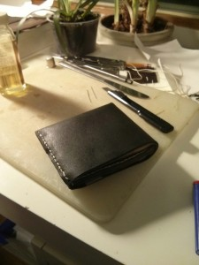 finished wallet outside