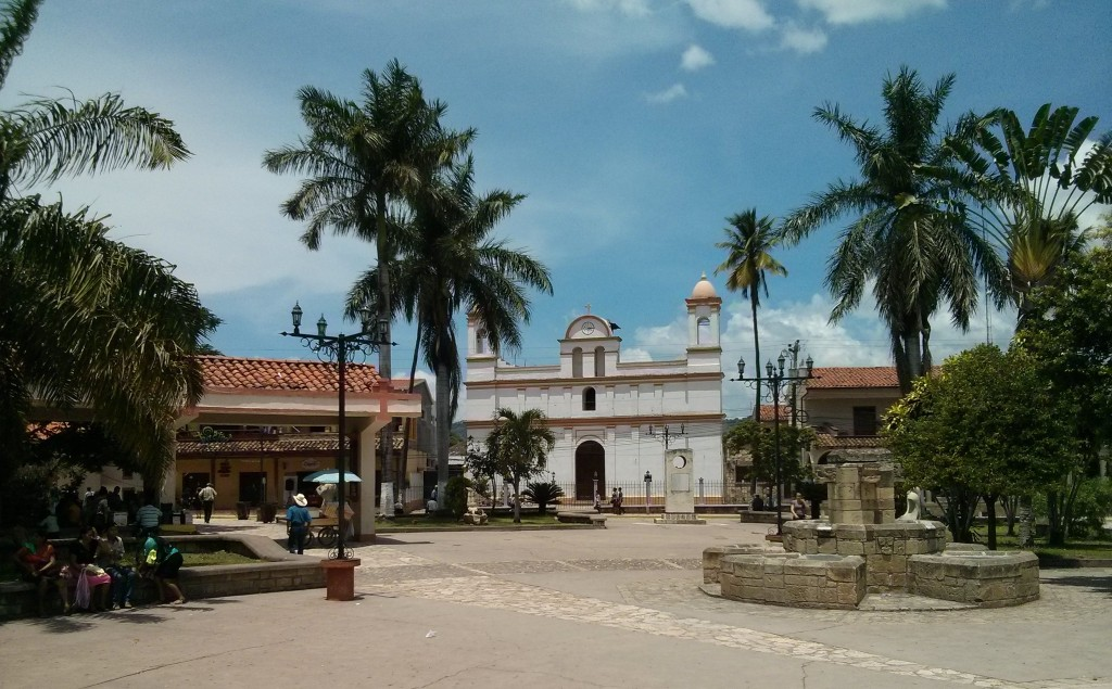 Copan Ruinas main square