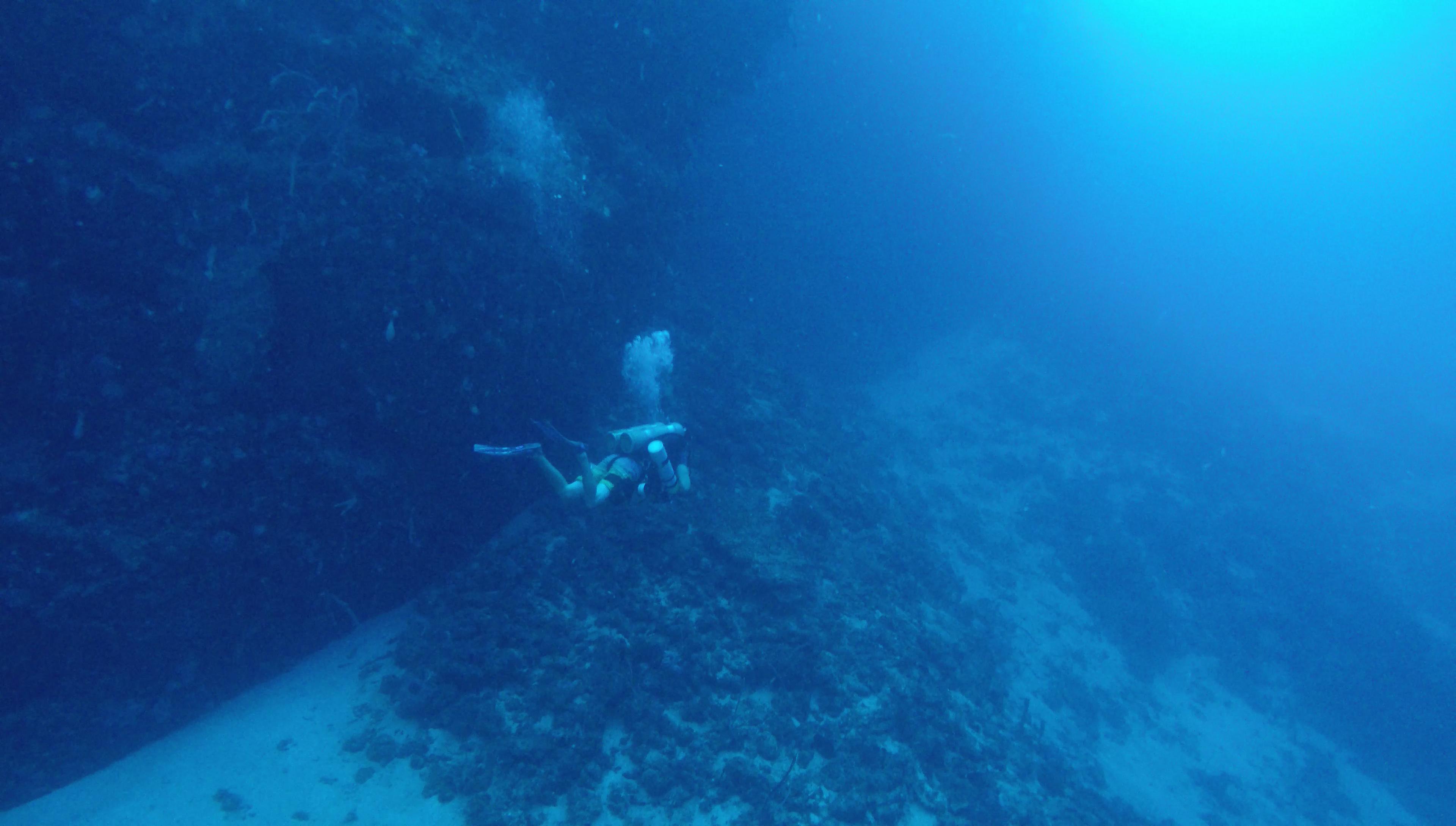 tec diving at 50m
