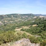 Paysage autour de Roquefort