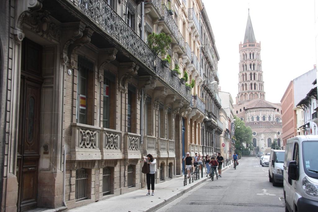 Vue sur la basilique de Toulouse