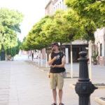 Sur une place déserte à Venise