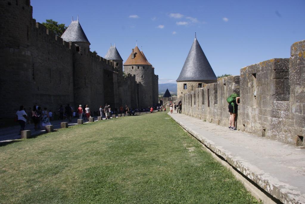 Les murs de la cité de Carcassonne