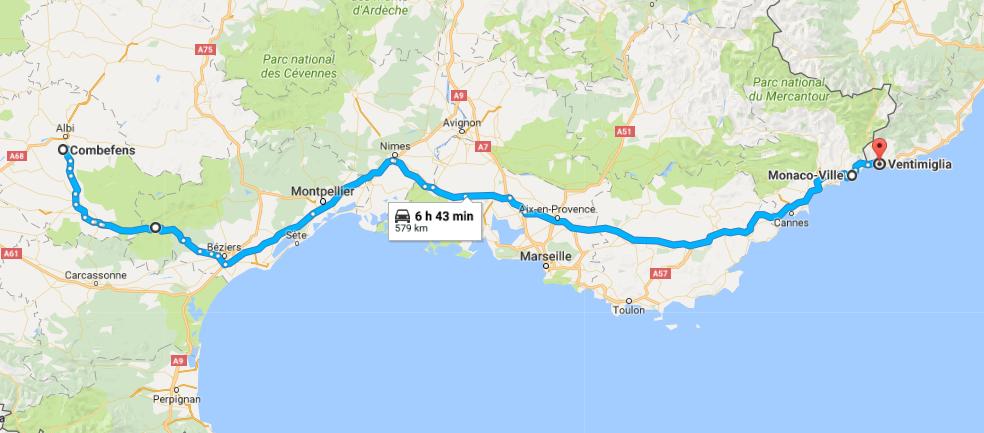 Poulan (Combefens), France - (Monaco) - Ventimiglia, Italie
