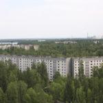 Vue depuis un immeuble abandonné à Pripyat