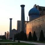 Vue latérale du Registan