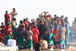 Fête sur la colline de Sarangkot