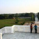 Sur la pagode de la paix, Lumbini, Népal