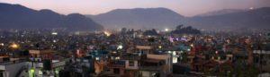 Vue du crépuscule de Katmandou, Népal