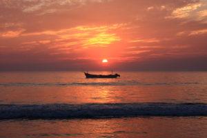 Coucher de soleil sur Patnem, Goa, Inde