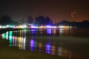 Patnem de nuit, Goa, Inde