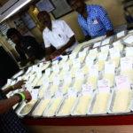 Magasin de riz dans le quartier de Georgetown à Chennai, Inde