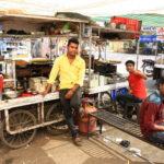 Bouffe de rue à Bundi, Rajasthan, Inde