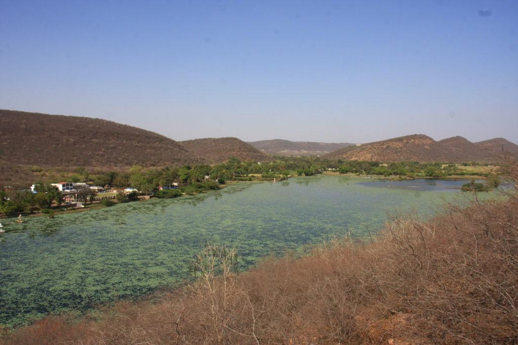Lac de Jait Sagar, Bundi, Rajasthan, Inde