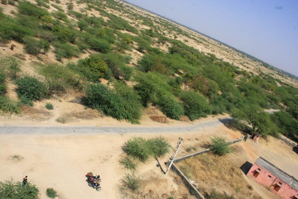 Vue du haut d'un chateau d'eau, Rajasthan, Inde