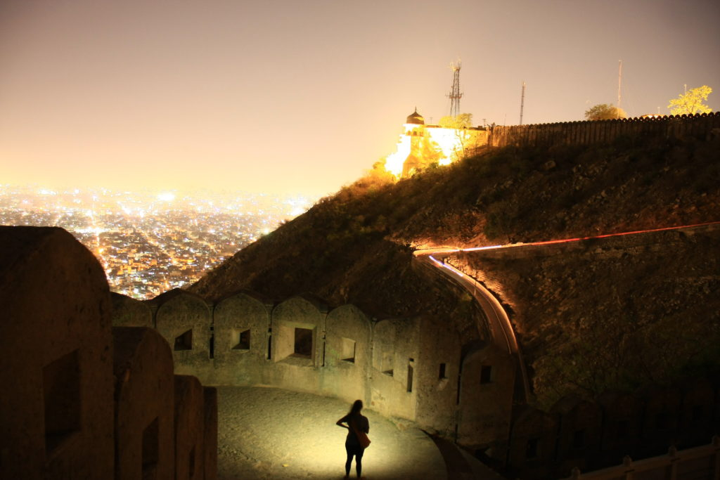 Fort de Jaipur de nuit, Rajasthan, Inde