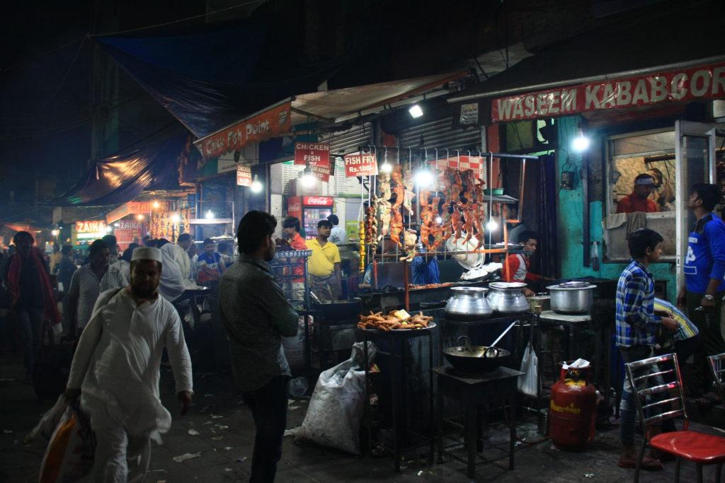 Kebabs dans Nizamuddin, New Delhi, Inde