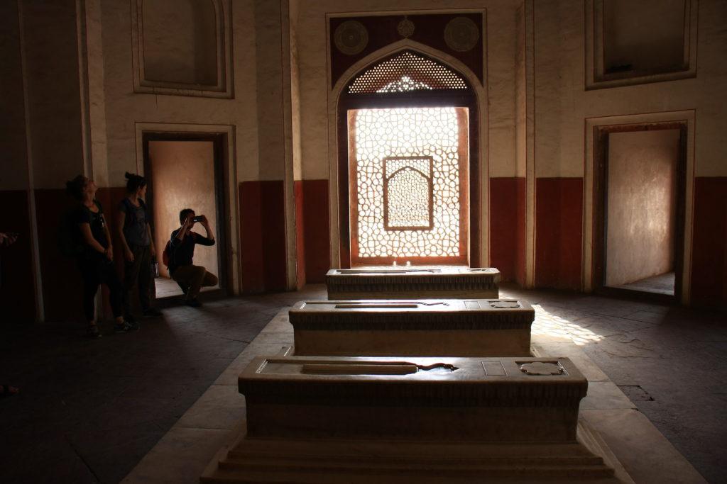 Intérieur de la tombe d'Humayun, New Delhi, Inde