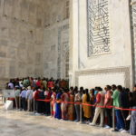File à l'entrée du Taj Mahal, Agra, Inde