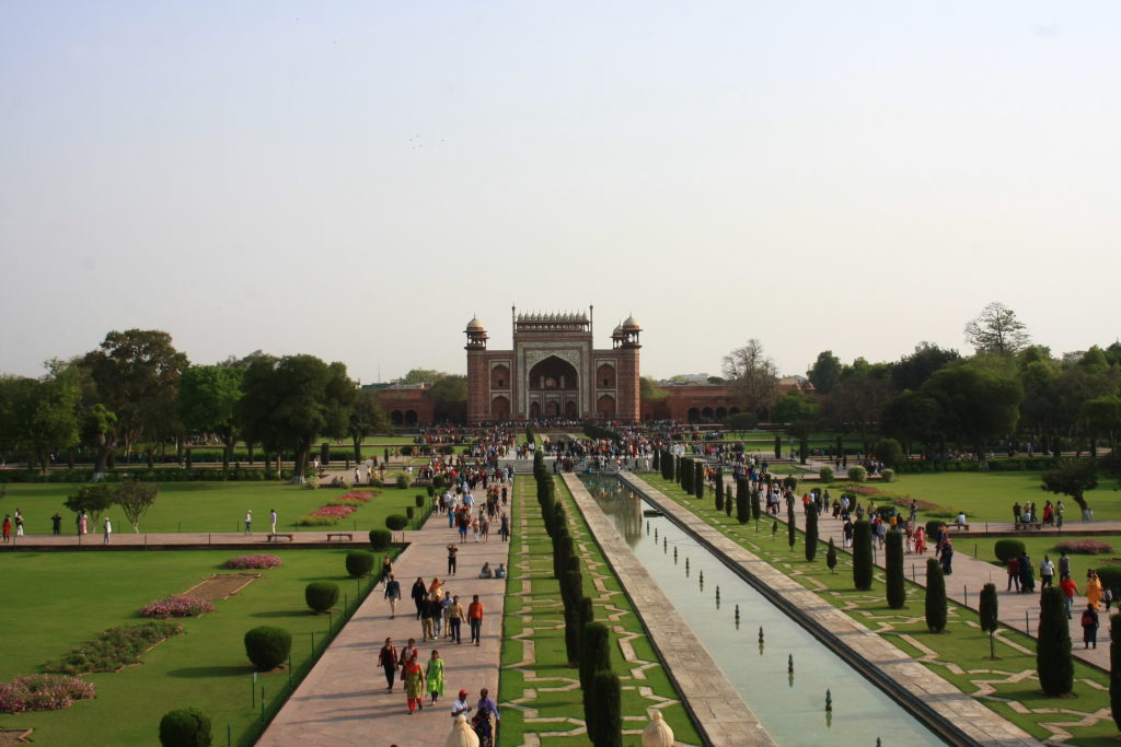 Entrée du Taj Mahal, Agra, Inde