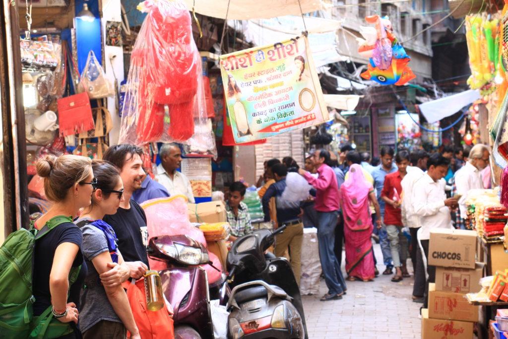 Dans le bazar d'Agra, Inde