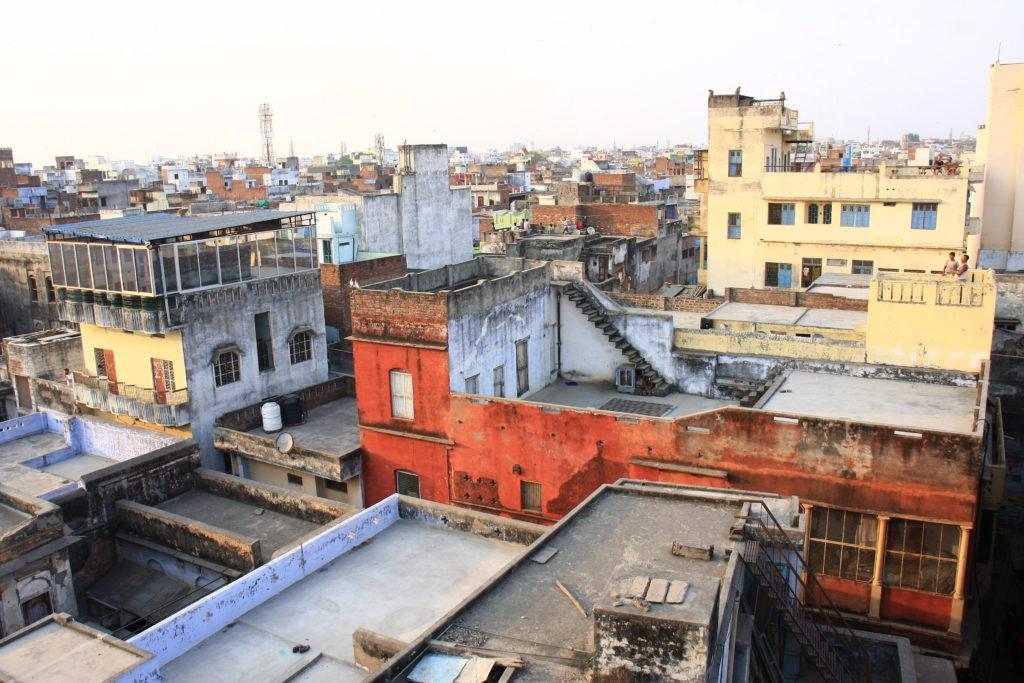Toits de Varanasi, Inde
