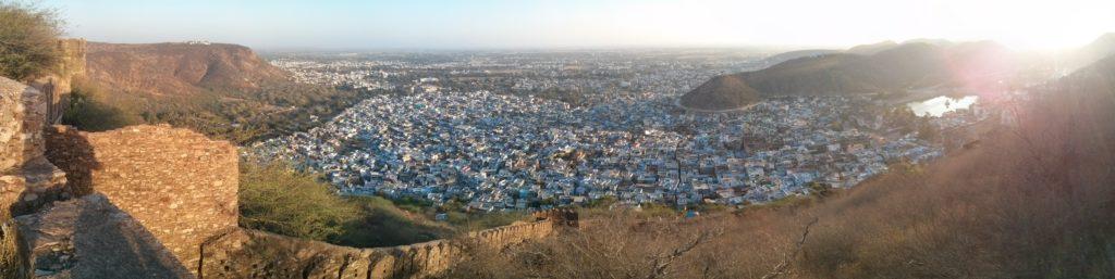Panorama depuis le fort de Taragarh, Bundi, Rajasthan, Inde