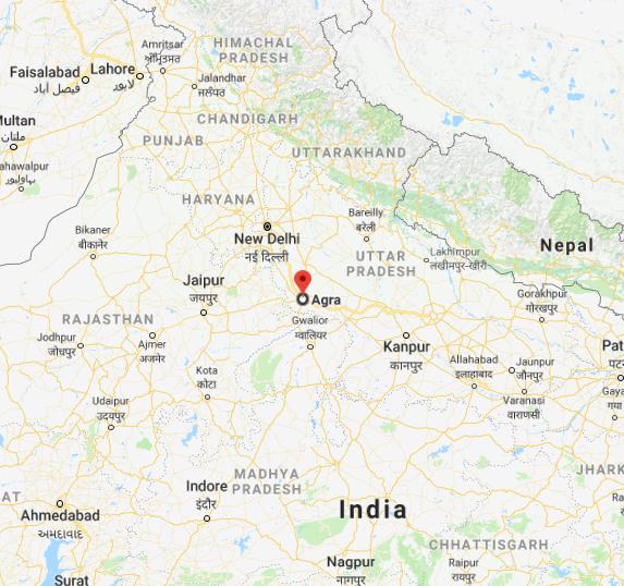 Agra dans l'Inde