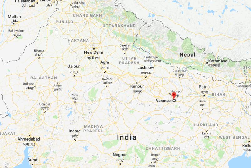 Varanasi dans l'Inde