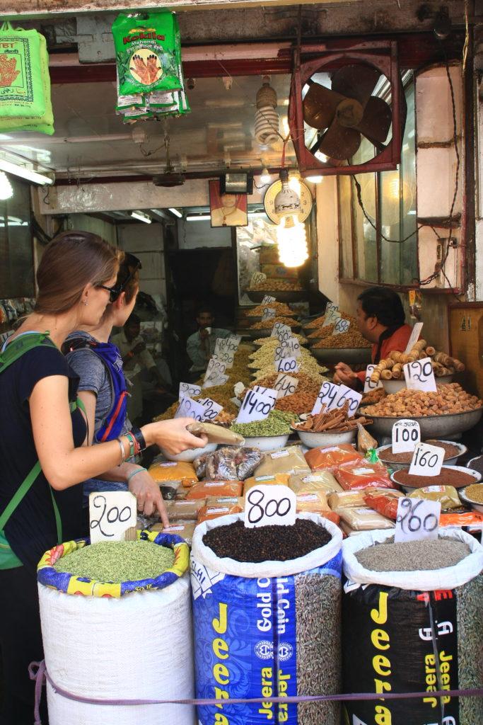 Magasin d'épices, Delhi, Inde