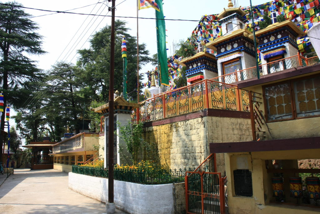 Temple bouddhiste, McLeod Ganj, Himachal Pradesh, Inde