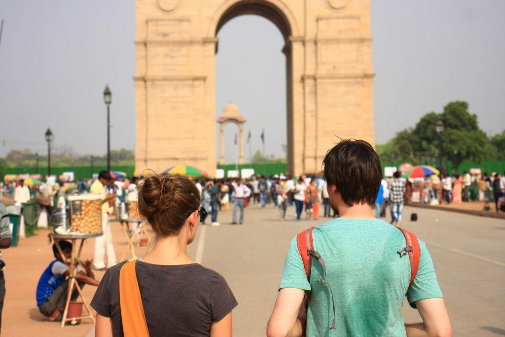 Devant la porte de l'Inde, New Delhi, Inde