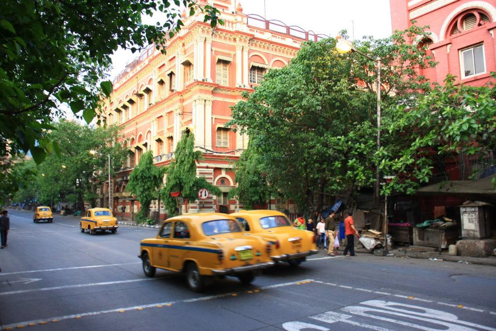Rue et taxis de Kolkata, Inde
