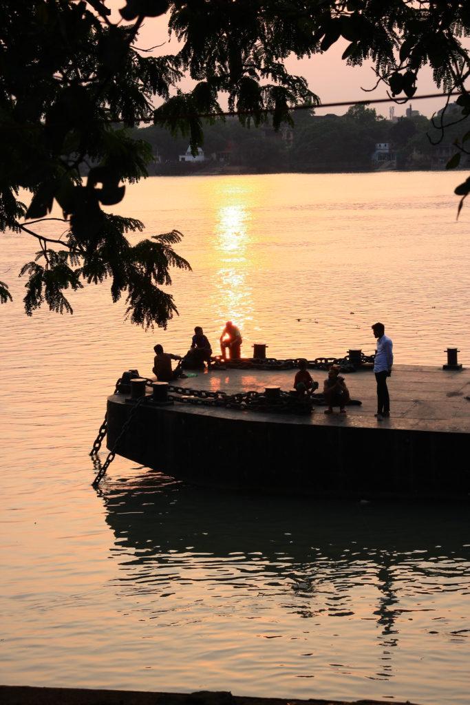 Fleuve, Kolkata, Inde
