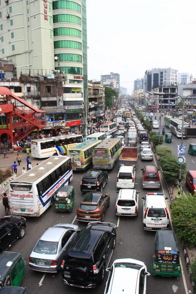 Trafic de Dacca, Bangladesh