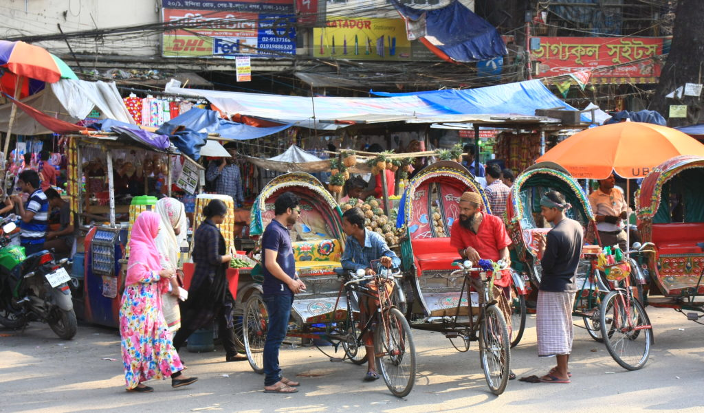 Rickshaws à Dacca, Bangladesh