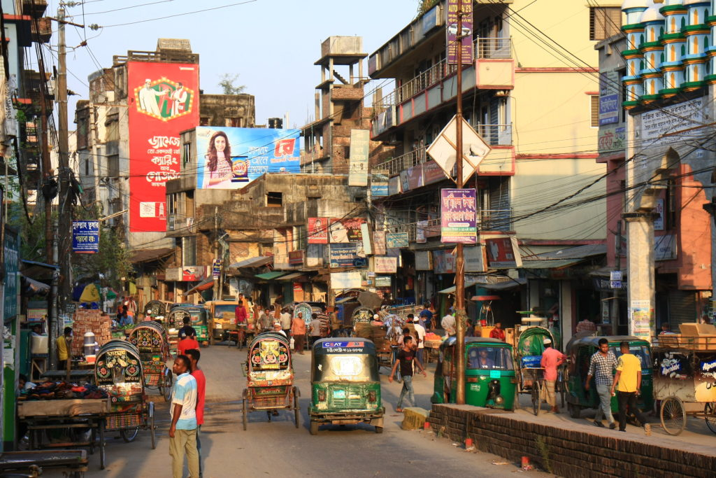 Scène de rue, Chittagong, Bangladesh