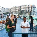 Sur le pont d'un ferry, Dacca, Bangladesh